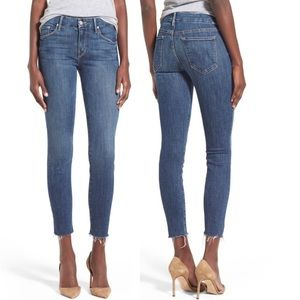 MOTHER 'The Looker' Frayed Ankle Skinny Jeans 27